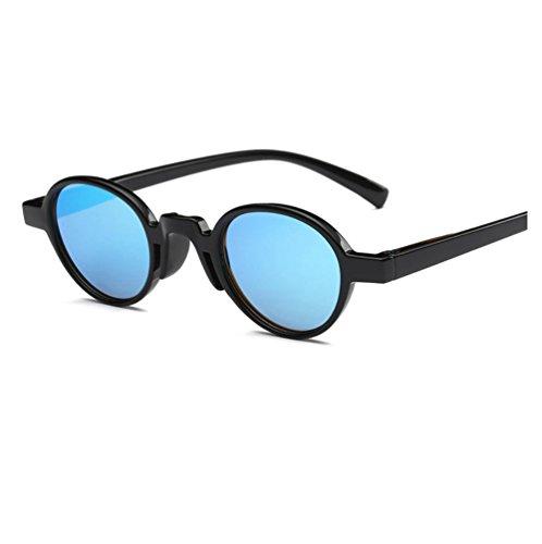 Redondo Rosa Personalizado de Hombre Negro Hombre Sol de Cine ZYXCC Mujer y Color Gafas Gafas para de para Sol y Mujer Azul Marco YANJING de Color qnXaSFwxt
