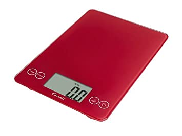 amazoncom escali 157rr arti glass digital kitchen scale 15lb7kg retro red digital kitchen scales kitchen dining - Digital Kitchen Scale