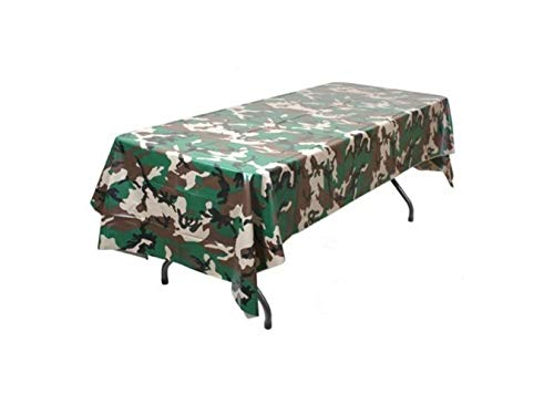 Pack of 6 Camouflage Plastic Tablecover Camo Tablecloth - 54