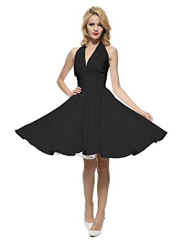 Maggie Tang Women's 1950s Vintage Rockabilly Dress Size 2XL Color Black