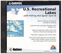 (Garmin MapSource U.S. Recreational Lakes East U.S. Freshwater microSD Card)
