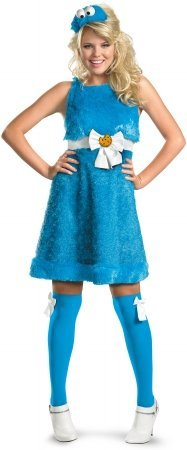 Cookie Monster Sassy Adult Costume - Large ()