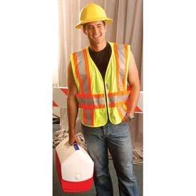 Occunomix LUX-SC2TZ-OXL/2 Premium Mesh Two-Tone Expandable Safety Vests, X-Large/Size 2X, Orange by (Lux Mesh Vest)