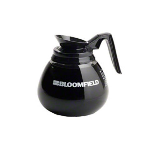 Bloomfield REG8895BL3 Unbreakable Decanter, Plastic with Stainless Steel Bottom, Black Handle (Pack of 3) by Bloomfield