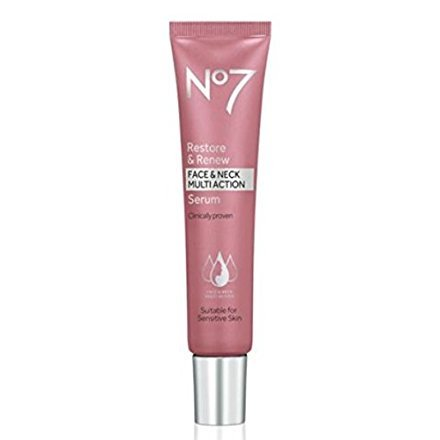 No7 Restore & Renew Face & Neck MULTI ACTION Serum 30ml by No. 7