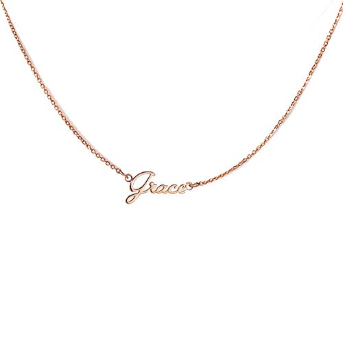 (GR35Z9 Name Necklace Personalized Gold Tiny Name Necklace Girls Jewelry)