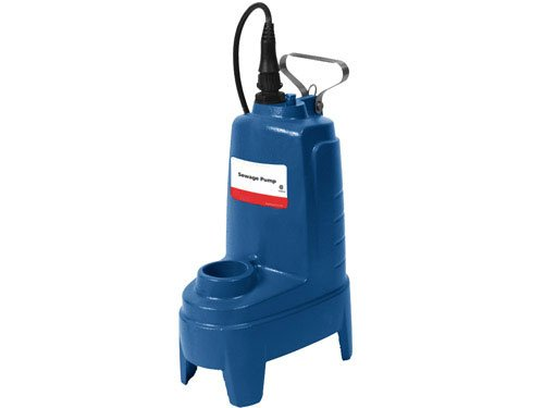 - Goulds PS52MF Submersible Sewage Pump, 1/2 HP, Single Phase, 230 V, Manual/No Switch
