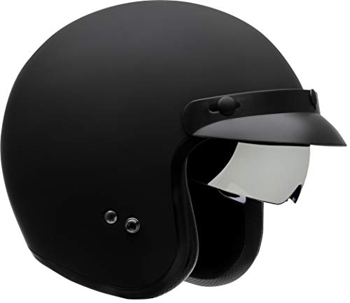 Vega Helmets Unisex-Adult Open Face Motorcycle Helmet (Matte Black, XX-Large) (Vega Helmets Motorcycle)