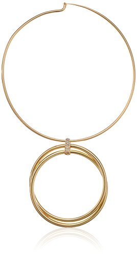 Kenneth-Cole-New-Womens-Trinity-Rings-Gold-Double-Circle-Necklace