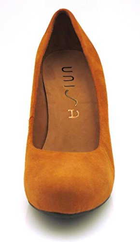Unisa Ladies Court Shoes Women's Pumps Shoes Suede Copper qx7LP5co