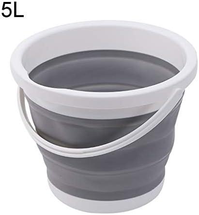 ZDST Eimer aus Kunststoff, faltbar, 5 l, tragbar mit Griff für Angeln, Bewässerung des Gartens, Camping, Angeln