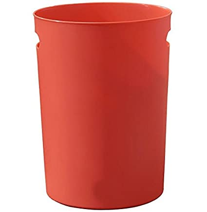 Kitchen Waste Bins Plastic Round Trash Can Bedroom/Kitchen Trash Can Kids  Rooms Solid Color