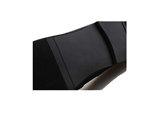 Tondo Pelle in Punta Nastro Sportivi Affari Casual Tela A Stagione Uomo Scarpe Colore Morbido Black Stivali Sandali EBUxRXqR