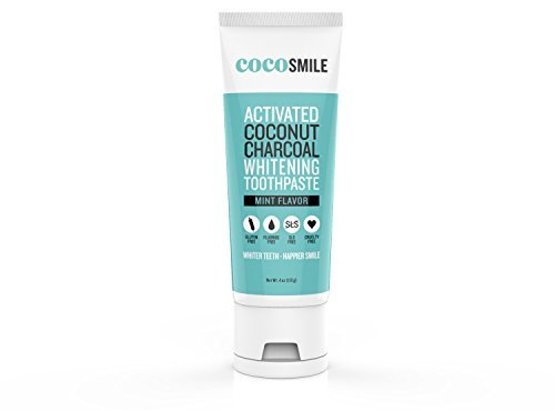 Activated Charcoal Teeth Whitening Toothpaste - Made In USA - Helps Remove Stains -  Fluoride-Free - for Sensitive Teeth. Natural Tooth Whitening and Vegan Certified. Fresh Mint Flavor By CocoSmile