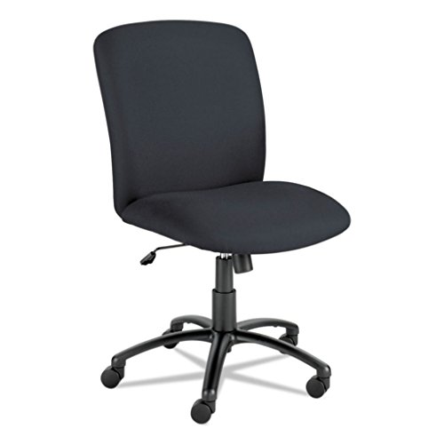SAF3490BL - Optional Fixed arms SAF-3498BL Available, Optional Height Adjustable T-pad arms SAF-3496BL Available - Safco Uber Big & Tall Series High-Back Chair - Each
