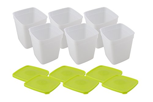 Arrow Plastic 1-Quart Freezer Containers