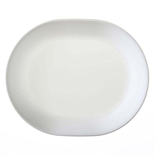 - Corelle Vitrelle Glass Winter Frost White Serving Platter, Pack of 3