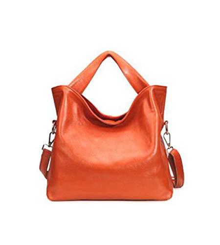 Genuine 7 4 Shoulder LXopr Crossbody 13 bag Bags Ms 7 Leather inch 11 backpack Orange qC447dfw