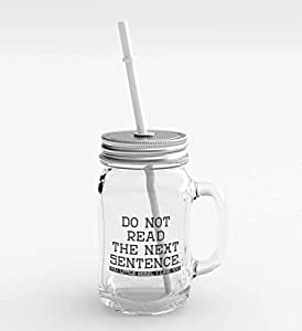 Loud Universe Clear Glass Do Not Read Party Favors Mason Jar