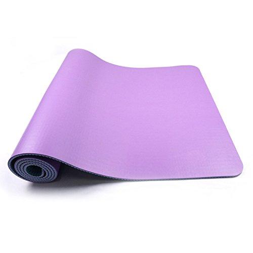 Maybesky Rutschfeste Yogamatte mit Tragegurt Yogamatte SBR5mm Eco-Freundliche Turnhallen-Matte für Turnhallen-Familie