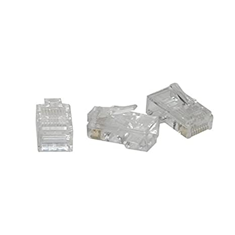 50 Pack C2G//Cables to Go 01940 RJ45 Cat5 8x8 Modular Plug for Flat Stranded Cable Multipack