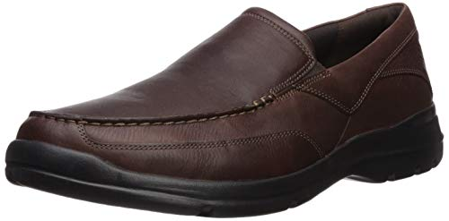 Rockport Men's City Play Two Slip On Oxford, Brown, 11 W US
