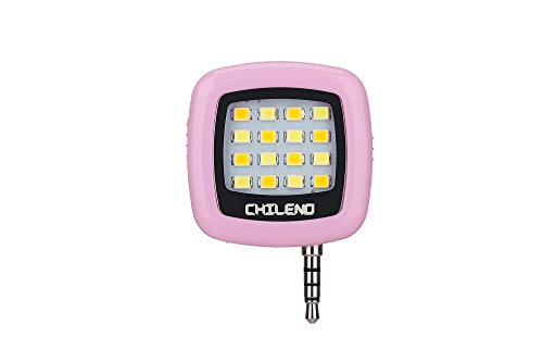 CHILENO Cute Pink Led Cell Phone Camera Fill Flashlight Better Selfie in Dark Place! by CHILENO
