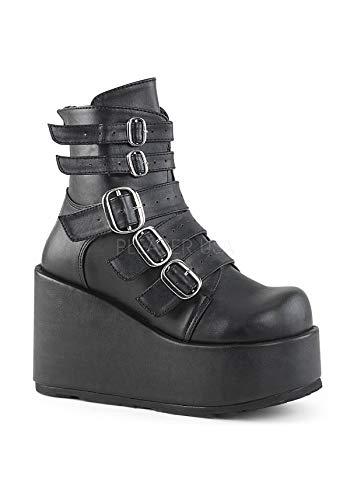 Demonia Vegan 57 CONCORD Leather Blk TxqwT8pr