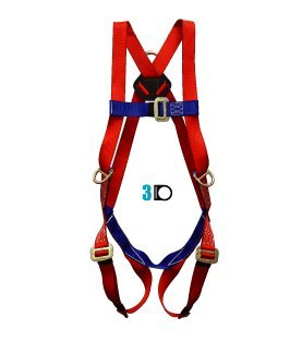 Elk River 01813 Freedom Polyester Three D-ring Harness Retail Clamshell Packaging with Mating Buckles, Fits Small to Large by Elk River