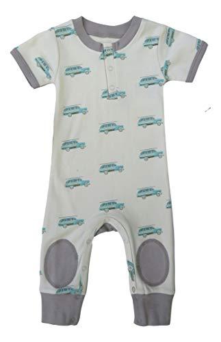 Cat & Dogma Organic Unisex Baby Sleeveless Short Sleeved Jumper (0-3 Months, Surf Wagon)
