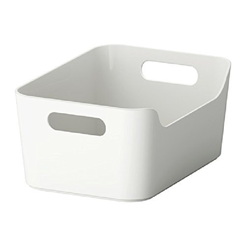 Gloss High Box Storage (VARIERA Convenient Kitchen Open Storage Box, High Gloss White)