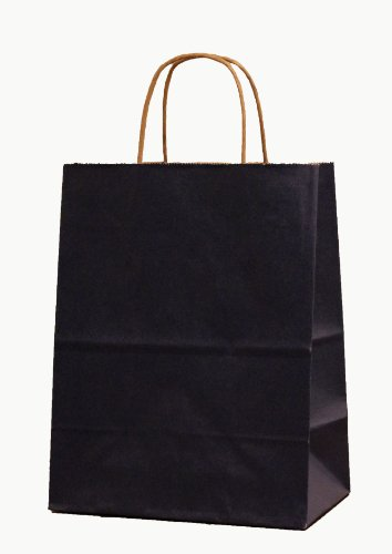 250 Navy Cub / Petite Paper Shopping Bag with Handle, 8'' x 4-3/4'' x 10-1/4 Tall by Tulsack