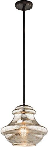 Kichler 42044OZMER Everly Pendant 1-Light, Olde Bronze (Pendant Light Online)