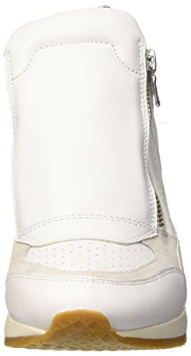 Womens Geox 10 Wedged Boots White Trainers A Heeled Nydame D Leather 7wCqtwR