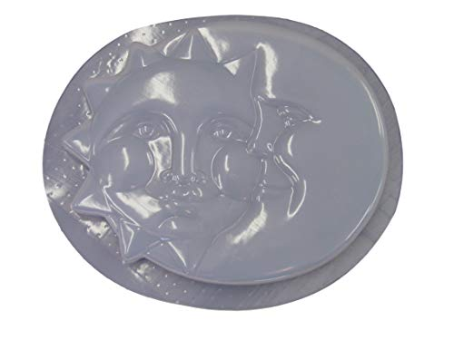 Sun & Moon Stepping Stone Concrete Plaster Mold ()