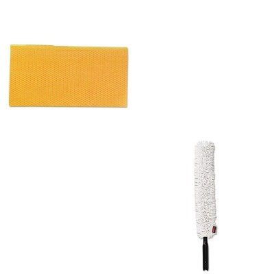KITCHI0416RCPQ852WHI - Value Kit - RUBBERMAID COMMERCIAL PROD. HYGEN Quick-Connect Flexible Dusting Wand (RCPQ852WHI) and Chix Stretch N Dust Cloths (CHI0416)