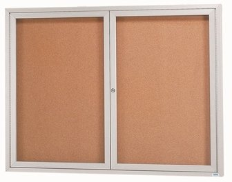 AARDCC2412R - Indoor Enclosed Aluminum Framed Bulletin Boards by Aarco