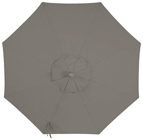 9ft 8 Ribs Market Umbrella Replacement Canopy (Sunbrella- Graphite) by Secret Garden Home Goods