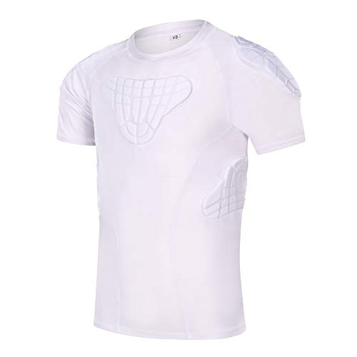 TUOY Boy Compression Padded Chest Protector Shirt for Baseball Football Paintball