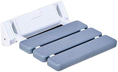 折り畳み式のシャワーシートバスルーム折り畳み式のシート掃除が簡単、滑り止め強力な支持力バスルームシャワーバスシート、壁掛け式シャワーチェア愛する人への親密な贈り物 (Color : Gray)