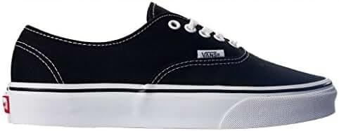 Vans Authentic Unisex Skate Trainers Shoes (12.5 B(M) US Women / 11 D(M) US Men, Black)