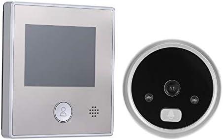 1.3MPピープホールドアカメラ2.8インチカラー液晶画面モニタービデオドアビューアードア・アイドアベル写真 呼び鈴 防水 防塵 ワイヤレスチャイム 玄関チャイム (Color : A)