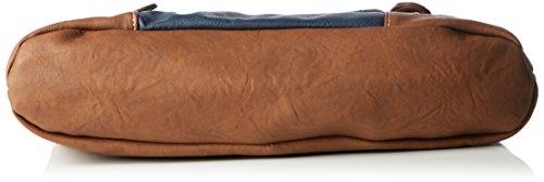 Rieker H1042, Borsa con Maniglia Donna, Marrone (Sattel/Ozean/24), 36 x 22 x 10 cm (B x H x T)
