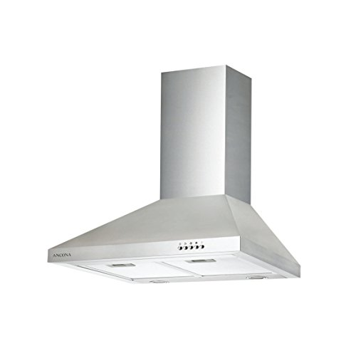 Ancona Pyramid 400 CFM Wall Mount Range Hood, 30-Inch (The Stove Above Microwave)