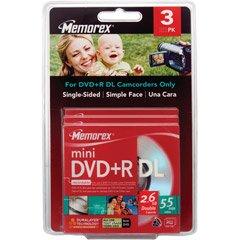 3PK MEMOREX MINI DVD+R DL 2.6GB W/ JC BLISTER  Category: DVD