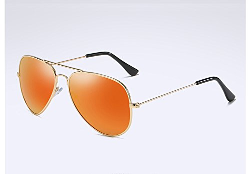 Sol UV400 Sol Guía gold Hombre TL en de Aleación polarizadas red Gafas Gafas Plata de Atrás Gris Gafas Sunglasses de Sol la qTYwf
