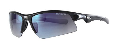 Sundog Zone 495033 Sunglasses, Shiny Black Frame/Smoke Light Blue - Zone Sunglasses