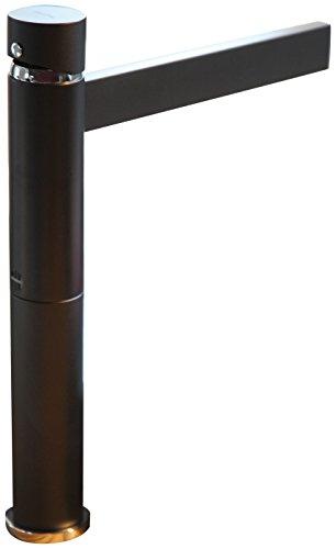MaestroBath FAU-016-BLK Caso Designer Bathroom Faucet, Mat Black by MaestroBath (Image #1)