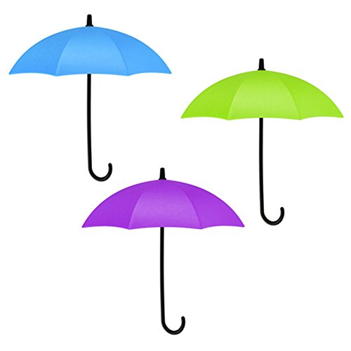 Multi-purpose 3pcs Colorful Creative Umbrella Self-Sticky Ke