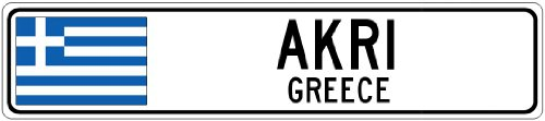 akri-greece-greece-flag-city-sign-9x36-quality-aluminum-sign